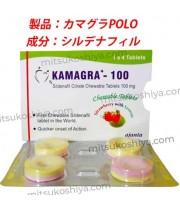 カマグラPOLO ストロベリー (kamagra POLO)100mg  4錠/箱
