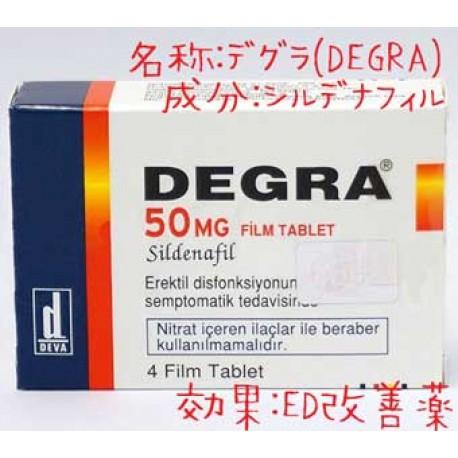 デグラ(Degra)50mg 1箱4錠・有名なディーヴァ社│ 高品質なジェネリック医薬品ED(勃起不全、弱体化に悩む日を解消)シルデナフィル薬です。