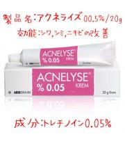 アクネライズ(Acnelyse)0.05%/20g|レチンA・ジェネリック|ビタミンA誘導体