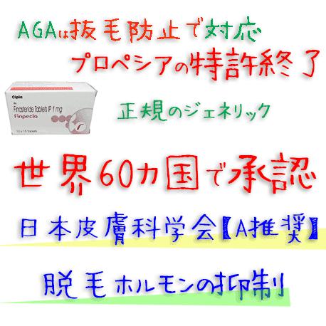 フィンペシア (Finpecia) 1mg【1箱150錠】Cipla社│プロペシアのジェネリック、AGA(薄毛)治療(フィナステリド)
