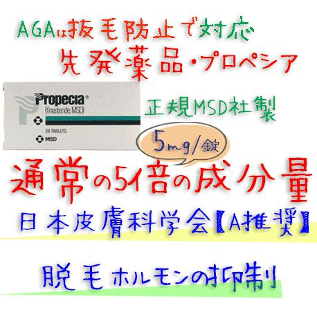 プロペシア (Propecia) 1mg 1箱28錠 MSD社│AGA(薄毛)シルデナフィル成分